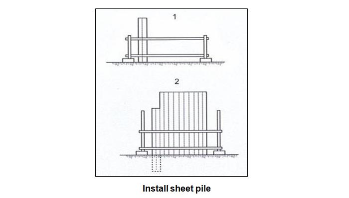 Install sheet pile