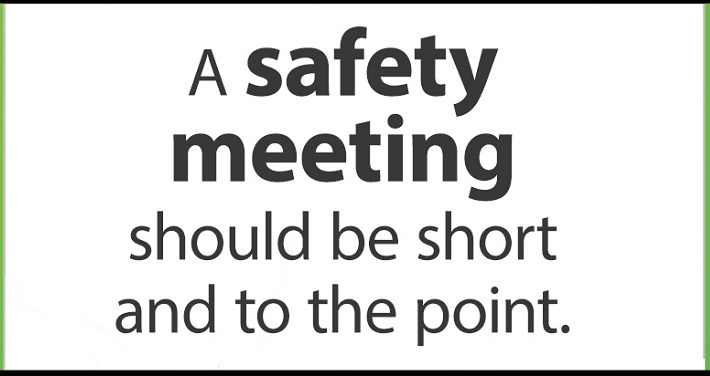 health and safety meeting agenda